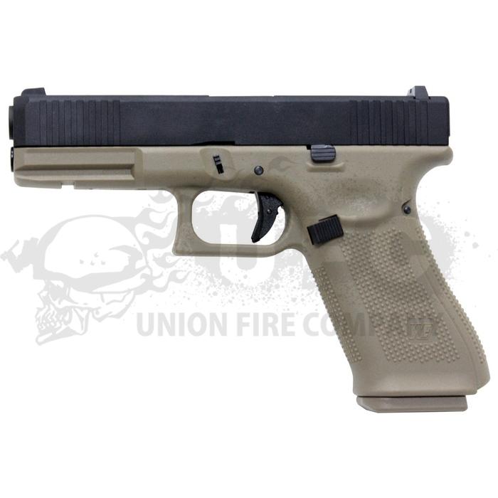 We-Tech Glock17 Gen.5 FS GBB(BK/TAN)(刻印無)※ハーフメタル