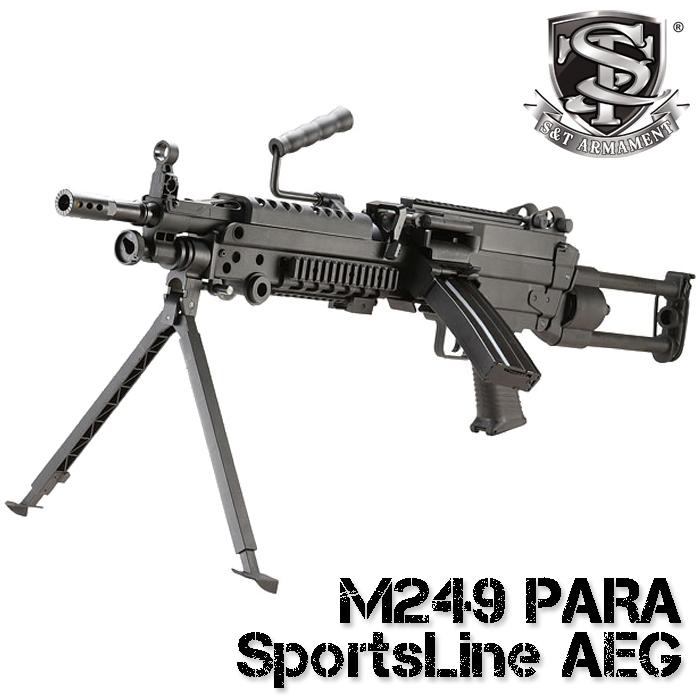 ※入荷しました!! S&T M249 PARA スポーツライン電動ガン BK【180日間安心保証つき】