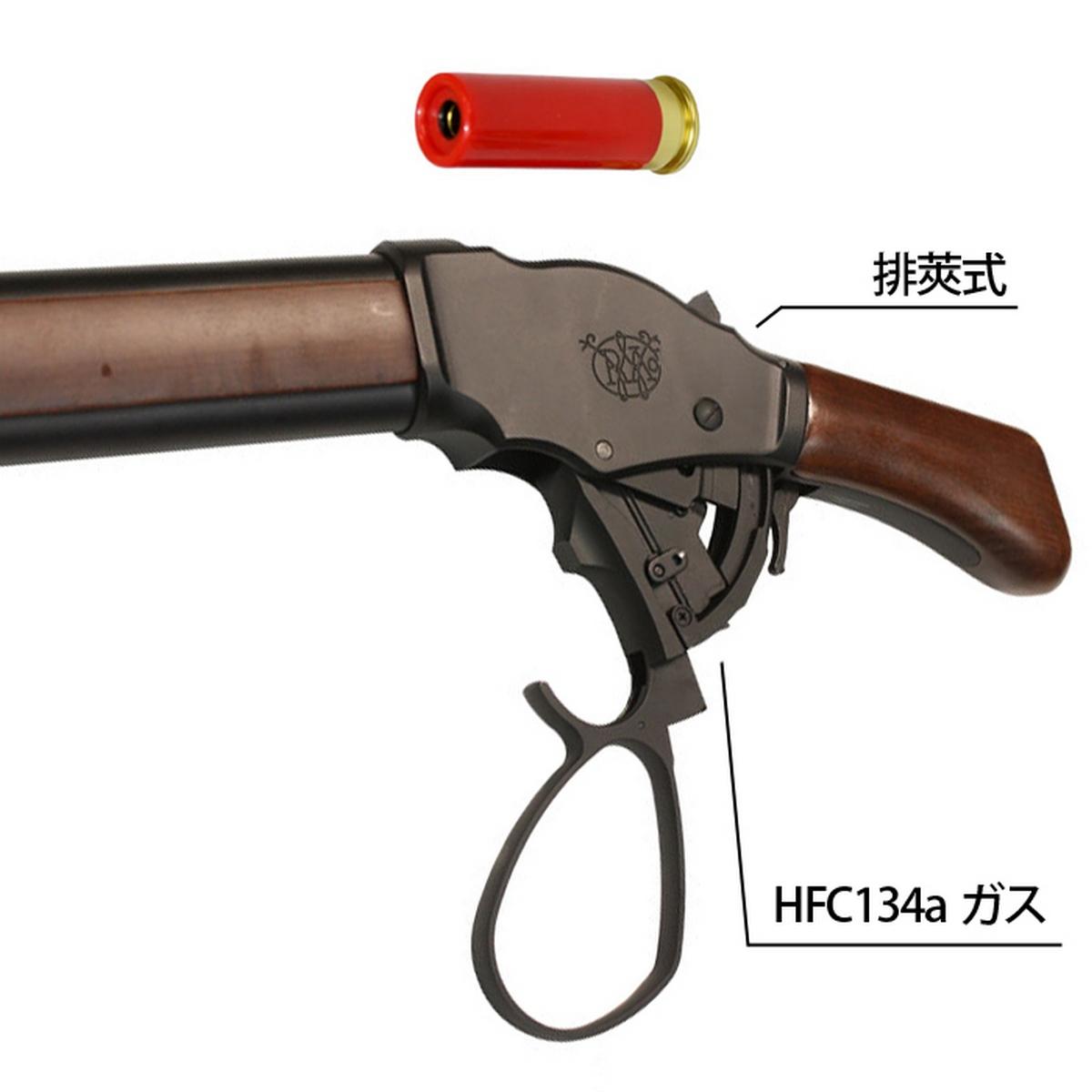【入荷予約】S&T ウィンチェスター M1887 ソードオフ ガスショットガン リアルウッド BK ワイドレバー(排莢式)