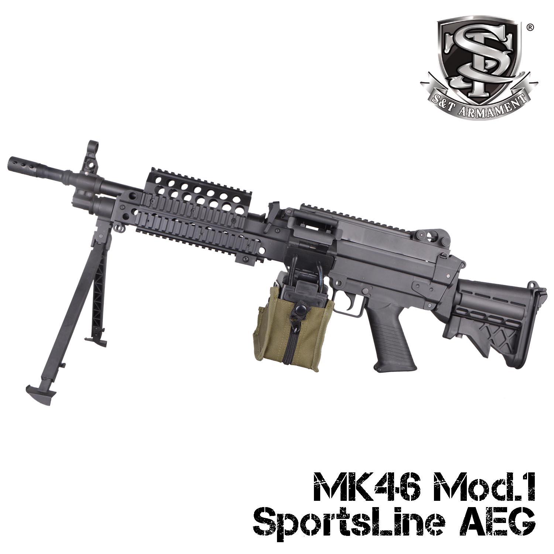 【7月〜8月入荷予約】S&T MK46 Mod.1 BK スポーツライン電動ガン