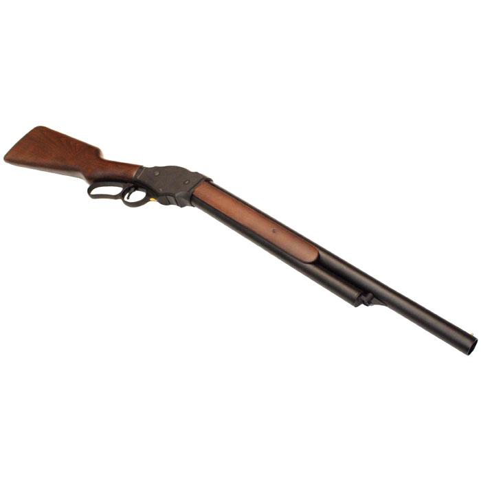 S&T ウィンチェスター M1887 レバーアクション ガスショットガン リアルウッド BK ≪6mm 排莢式≫