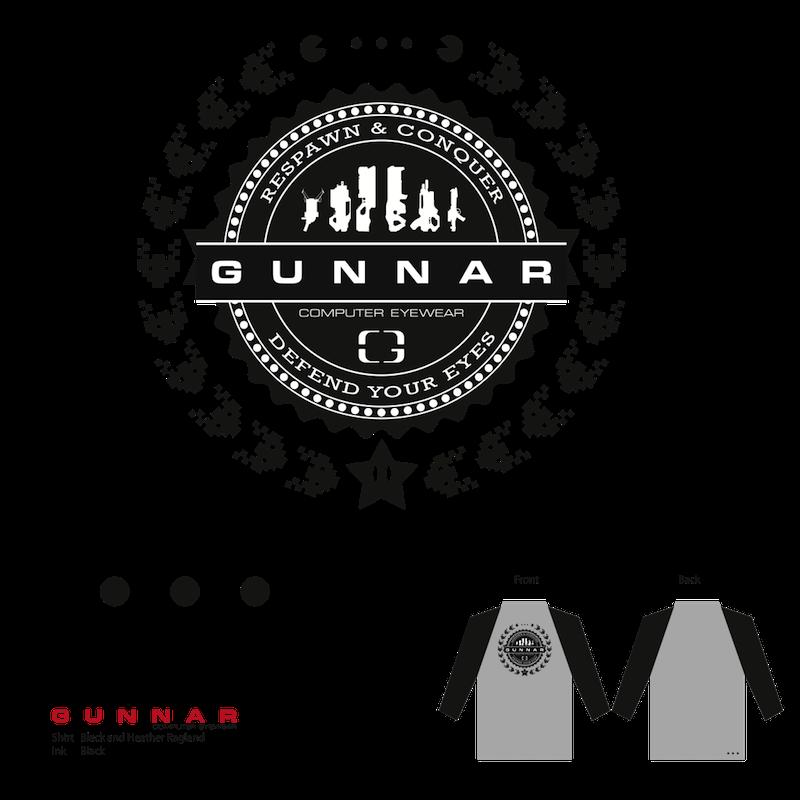 GUNNAR CREST シャツ(グレー/黒)