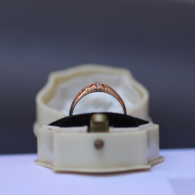 アンティーク 1897年 ソリティア ダイヤモンド リング
