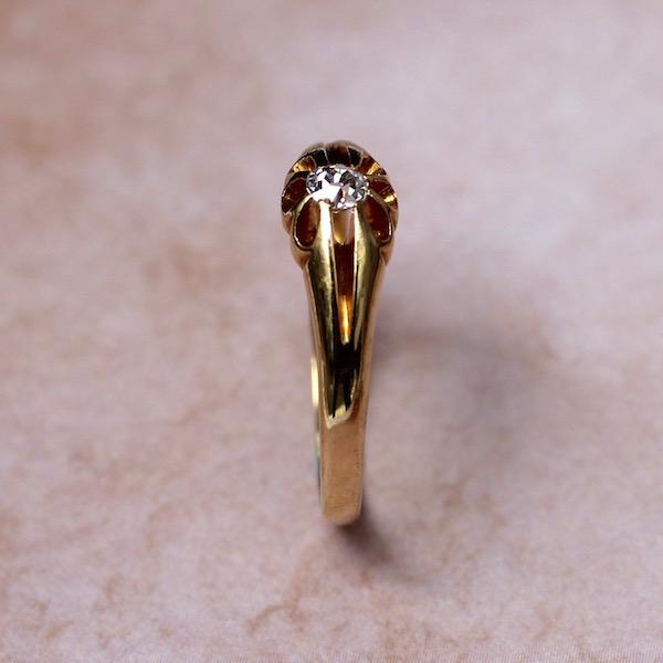 ダイヤモンド ソリティア リング サイドライン