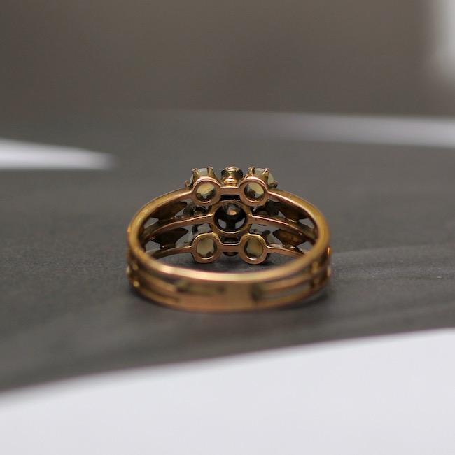 19世紀前期 パール ダイヤモンド リング