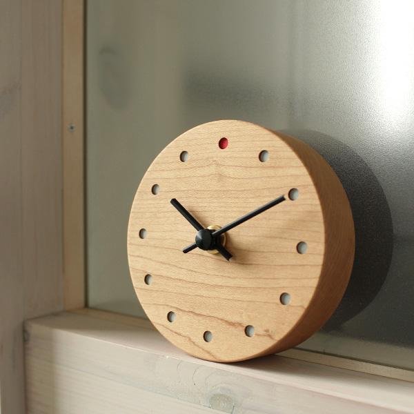 「Wall Clock Mini」おしゃれな木の置時計・壁掛け時計。結婚式・ブライダル・両親へのプレゼント・出産祝い等に/Hacoaブランド
