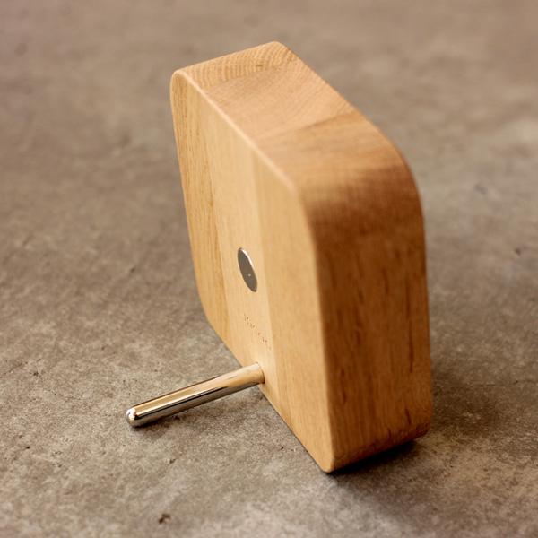 【ネット限定】「BLOCK Mirror」マグネットで貼り付け。壁掛け・卓上にも使えるコンパクトな木製ミラー/Hacoaブランド