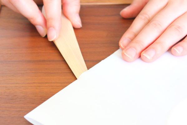 「Leaf」木製ペーパーナイフ/Hacoaブランド/北欧風デザイン