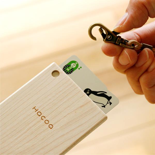 【ハローキティ】「IC-PassCase」キティちゃんの刻印がかわいい木製ICパスケース・カードケース定期入れ