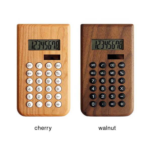 【ネット限定】「Solar Battery Calculator」書斎の名脇役、おしゃれな木製のソーラー電卓・計算機/北欧風デザイン