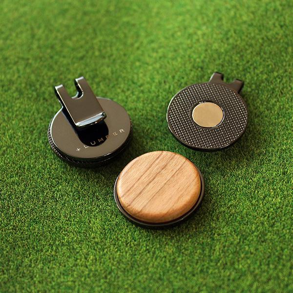 ■【プレミアム】「Golf Marker(黒檀)」ゴルフが楽しくなる木製グリーンマーカー