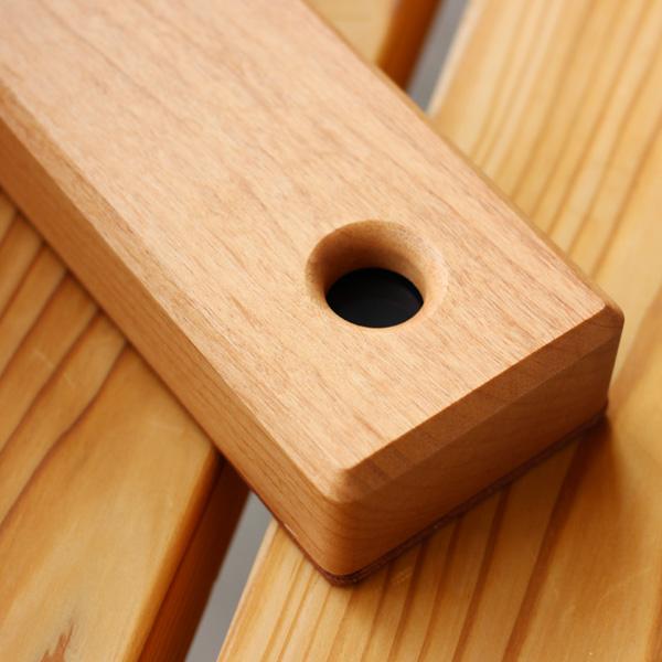【Hacoa×HERZ】【L】「STAMP MAT & CASE Lサイズ」木と革の捺印マット付き印鑑ケース/北欧風デザイン