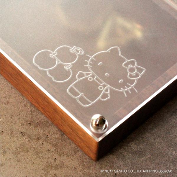 【ハローキティ】【L】「Jewelry Case」キティちゃんの刻印がかわいい木製ジュエリーケース(大)