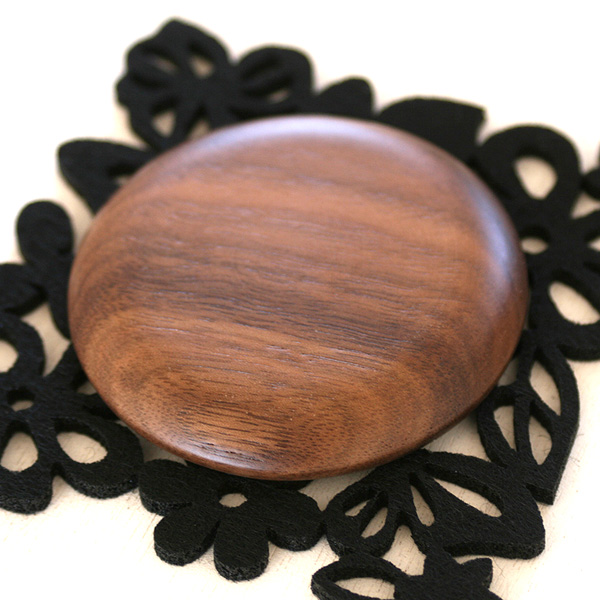 「Hand Mirror(丸型)」木のあたたかさを持つ度に感じられる木製手鏡・ハンドミラー/北欧風デザイン