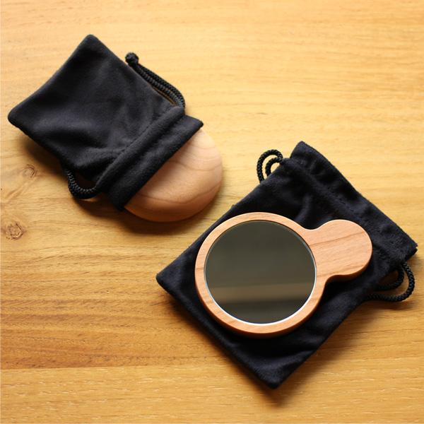 【ネット限定】「Hand Mirror(丸型)」木のあたたかさを持つ度に感じられる木製手鏡・ハンドミラー/北欧風デザイン