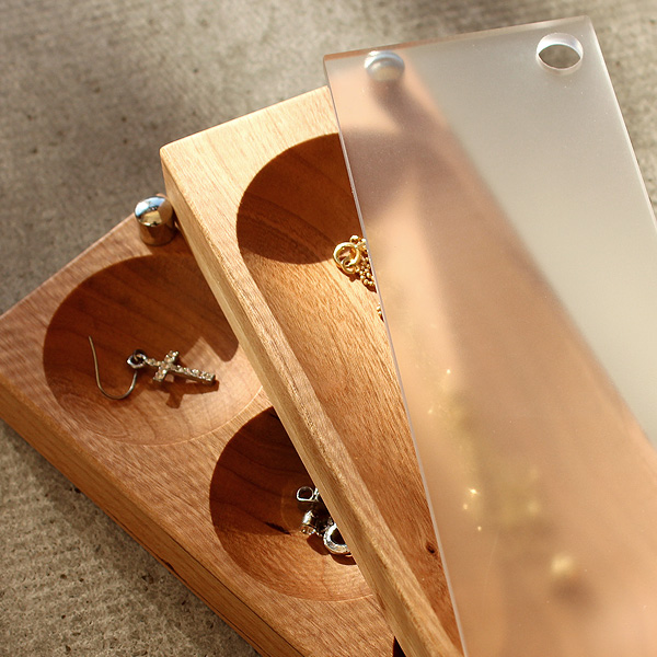 【ピアス】「Jewelry Case ピアスタイプ」木の美しいジュエリーボックス・アクセサリーケース/北欧風デザイン