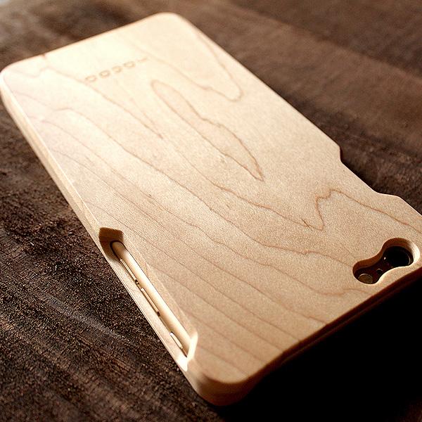 【ネット限定】【6Plus】「Wood case for iPhone 6 Plus/6s Plus With IC-Pass」木製iPhoneケース【ICカードエラー防止シート付】