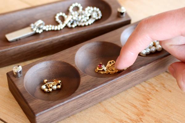 【ネックレス】「Jewelry Case ネックレスタイプ」木の美しいジュエリーボックス・アクセサリーケース/北欧風デザイン