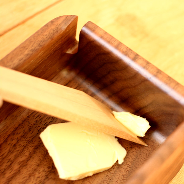 「Butter Case Lサイズ」優雅な朝のひとときに木製バターケースを/北欧風デザイン