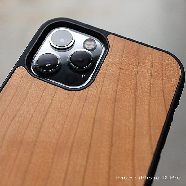【12mini】【プレミアム】「iPhone 12mini ALL-AROUND CASE(黒檀)」ハードケースと木をプラス、iPhone12ミニ専用木製ケース【5.4インチ】
