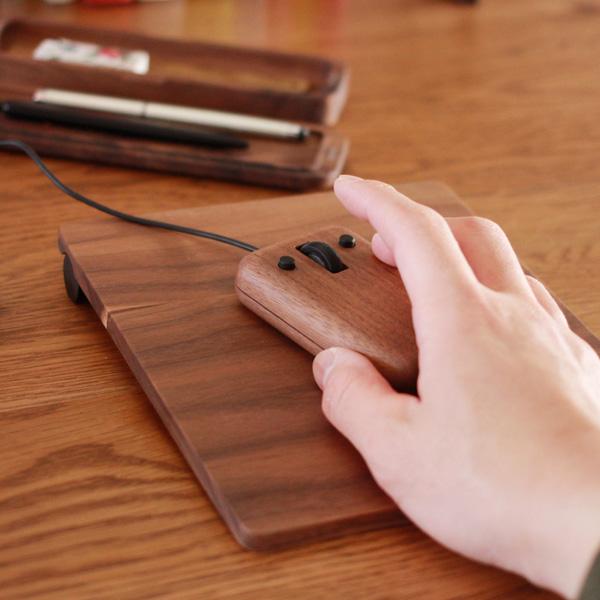 「Koro マウスパッド」おしゃれでかわいい木製マウスパッド/デザイン雑貨/北欧風デザイン