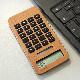 ■【MINI2】「SOLAR POWERED CALCULATOR MINI2」小型の10桁表示木製ソーラー電卓