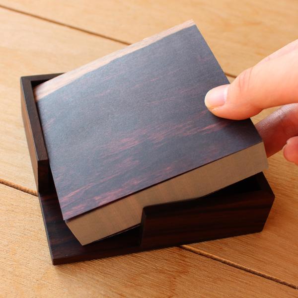 「Memo block」木目のメモブロック/北欧風デザイン
