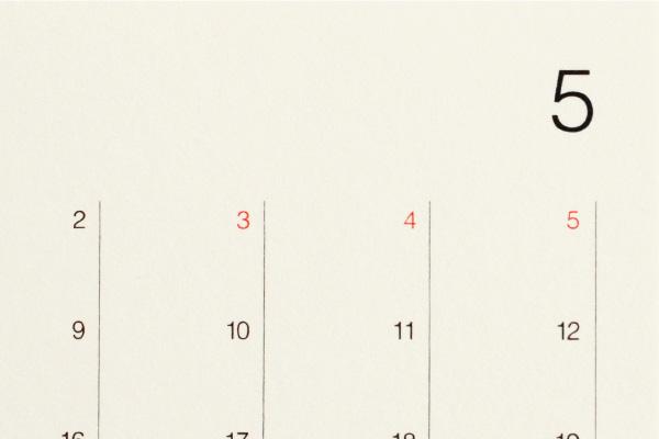 「2021年版 Desk Calendar カレンダーのみ」シンプルな木製デスクカレンダー【木部無し】