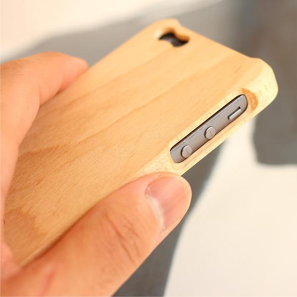 【生産終了】【SE/5s/5】 木製iPhoneケース 「Wooden case for iPhone SE/5s/5」