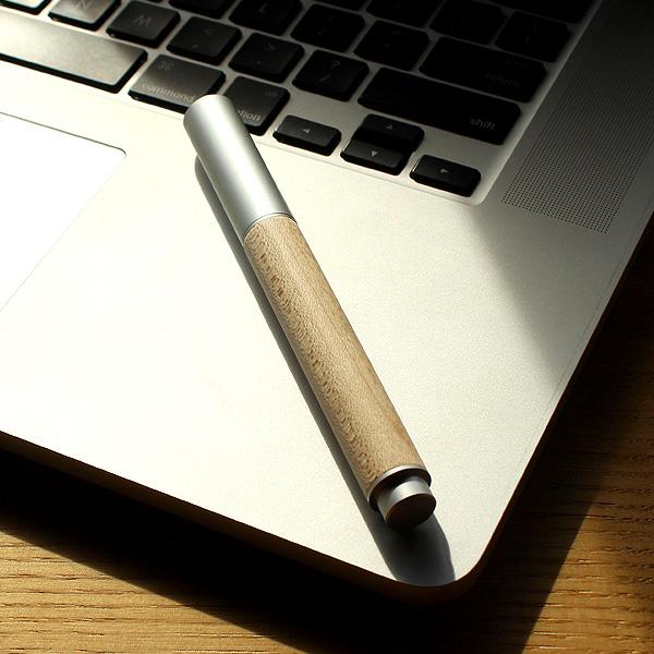 【販売終了】■「FOUNTAIN PEN 01(メープル)」削り出したアルミに銘木をプラスした万年筆【名入れ可能】
