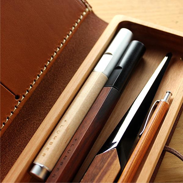 【販売終了】■「FOUNTAIN PEN 01(黒檀)」削り出したアルミに銘木をプラスした万年筆【名入れ可能】