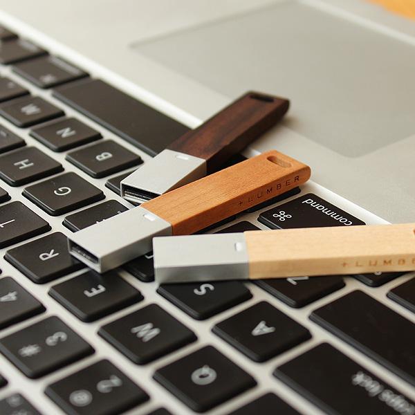 ■【メープルのみ】【16GB】「USB MEMORY」木製USBメモリー北欧風デザイン