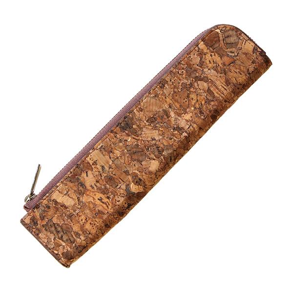 【生産終了】【ネット限定】「CONNIE Twig Pen Pouch」細身で気軽に持ち運べる、シンプルなコルクレザーのペンケース/Anewoodブランド/名入れ可能