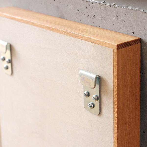 【生産終了】「ミラー Sサイズ」卓上・壁掛け対応、木製フレームの鏡/北欧風デザイン