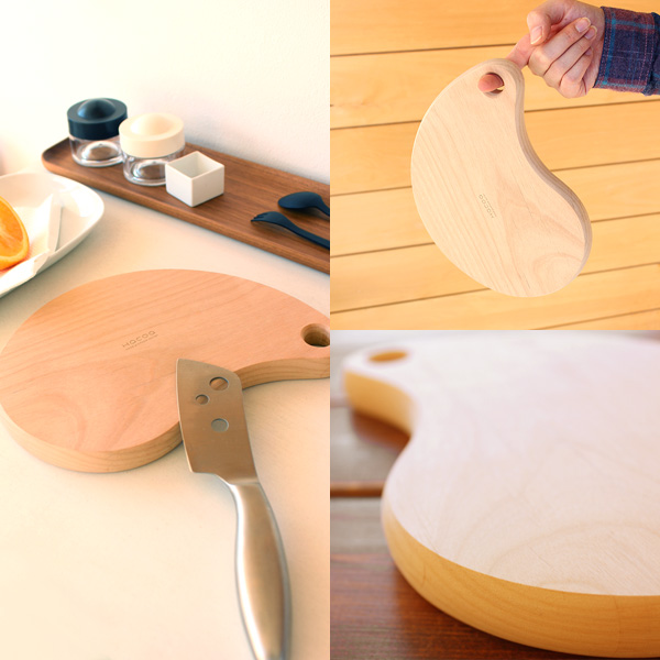 「Bean」無垢材の木製まな板・カッティングボード/北欧風デザイン