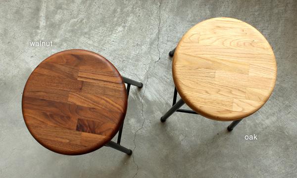 【送料無料】「PIPE STOOL」集成材とアイアンを組み合わせた木製スツール/北欧風デザイン