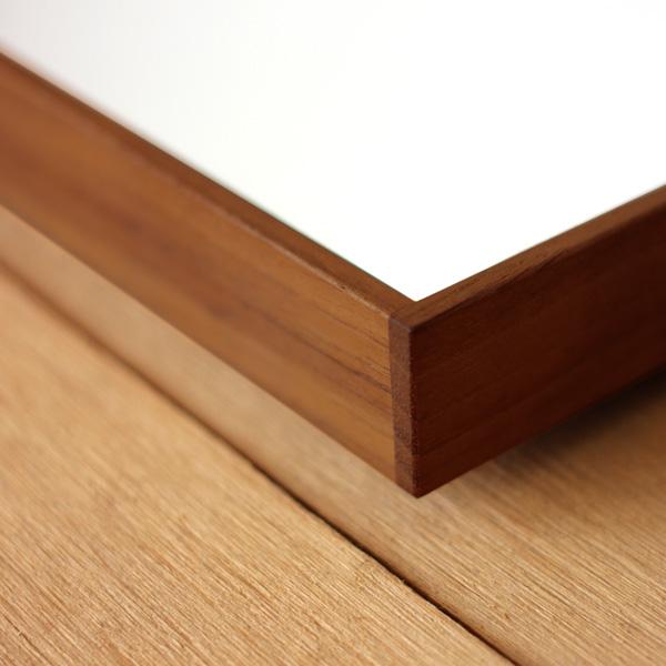 【送料無料】「ミラー Lサイズ」卓上・壁掛け対応、木製フレームの鏡/北欧風デザイン