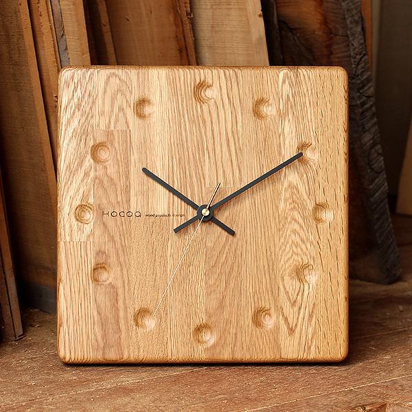 【送料無料】「Wall Clock Block Stripe」時間と共に深まる木の風合い、一緒に歳を重ねてくれる木製時計
