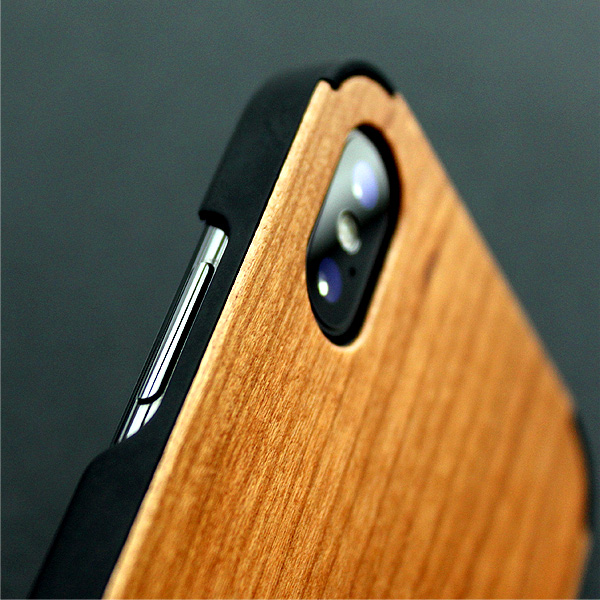 ■【XS/X】「iPhone Case XS/X」丈夫なハードケースと天然木を融合したiPhoneXS/X専用木製ケース【Qi対応】