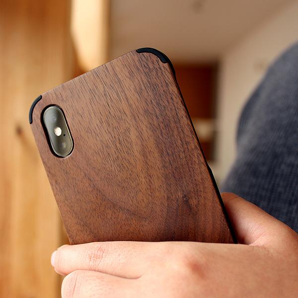 【XS/X】「iPhone Case XS/X」丈夫なハードケースと天然木を融合したiPhoneXS/X専用木製ケース【Qi対応】