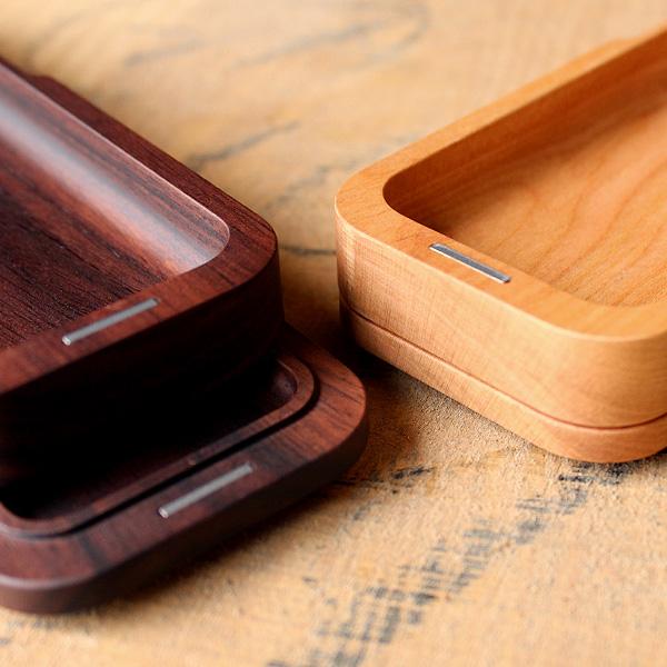 【プレミアム】「Pen Case Gentle(ローズウッド)」シンプルデザインのおしゃれな木製筆箱・ペンケース