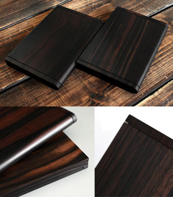 「Hacoa CardCase <黒檀>」木製名刺ケース/Hacoaブランド/北欧風デザイン