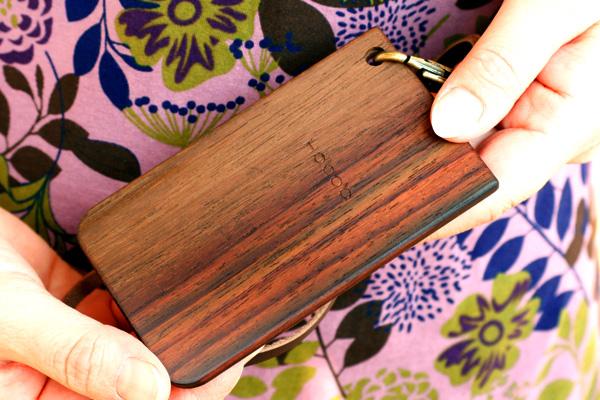 【スクエア】「IC-PassCase スクエアタイプ(四角)」木製ICパスケース・カードケース定期入れ Hacoaブランド/北欧風デザイン