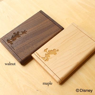 ディズニーキャラクターの木製名刺ケース
