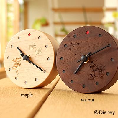 【Disney】【ミニ】「Wall Clock Mini Disney Characters」ディズニーキャラクターの小さな木製置時計