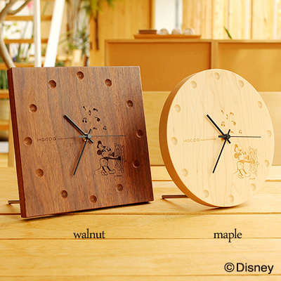 【Disney】【ミッキー】「Wall Clock Disney Characters」ディズニーキャラクターの木製壁掛け時計・置時計