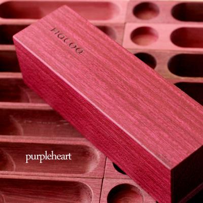 「SealCase 実印用<パープルハート>」動きが心地いい木製印鑑ケース【実印タイプ】