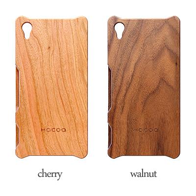 【生産終了】【Z4】 木製Xperiaケース 「Hacoa Wooden case for Xperia Z4」SO-03G/SOV31