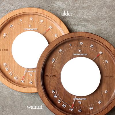 「T/H Meter」職人が仕上げたインテリア性の高いおしゃれな木製温湿度計/Hacoaブランド