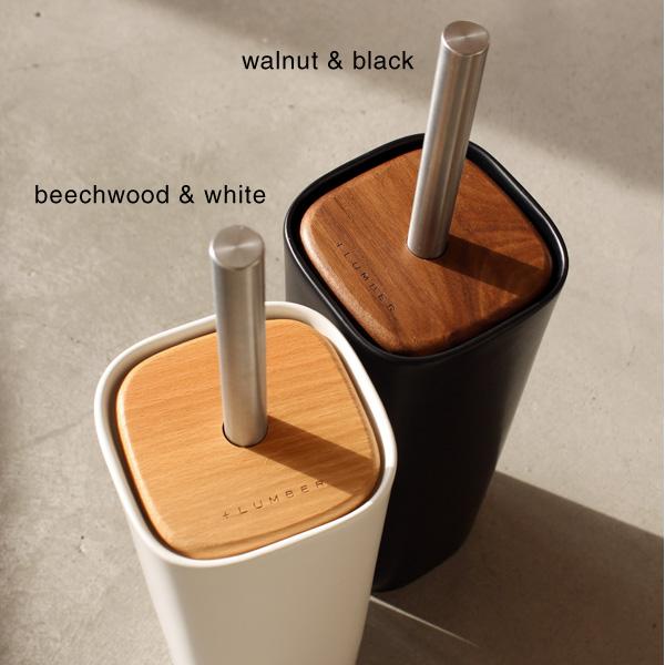 ■「TOILET BRUSH HOLDER」木と陶器を組み合せたトイレブラシ【+LUMBER】